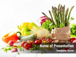 Fresh various types vegetables herbs