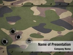 Metal army camouflage armor bullet