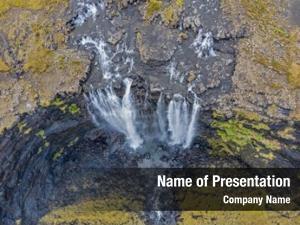 Fossa aerial view waterfall directly