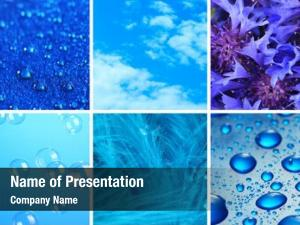 Samples blue color collage