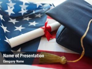 Patriotism education, graduation, nationalism concept