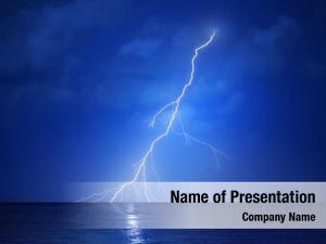 Night lightning strike