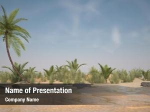 Tropic island powerpoint background