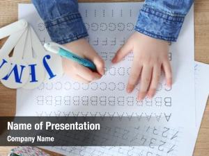 Learning little girl write english