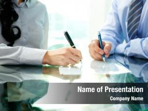 People two business signing document