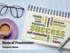 Cloud success word sketchbook cup