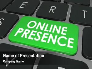 Words online presence computer keyboard