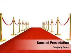Golden red carpet barrier red