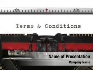 Old terms conditions typewriter genuine
