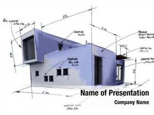 Project illustration house draft, handwritten