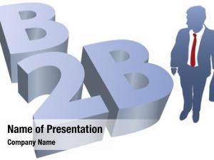 B2b business man symbol e commerce