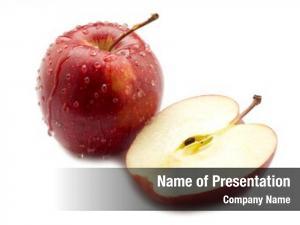 Apple sliced red