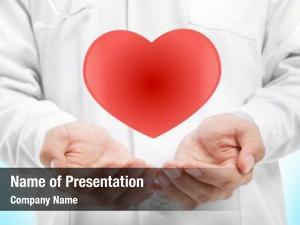 Cardiologist hands powerpoint template