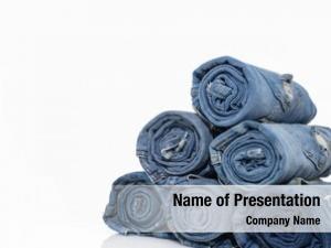 Blue stack roll denim jeans