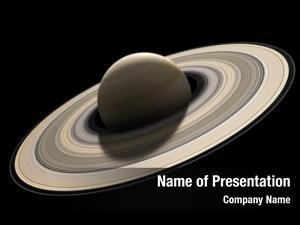 Rendered planet saturn scale black