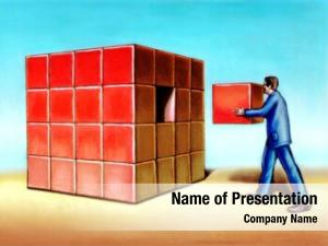 Last businessman inserting missing piece