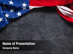 Worn american flag black