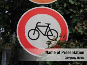 Bicycles entry sign motorway