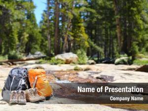 Hiker hiking backpacks shoes
