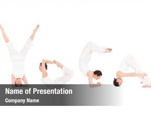 Doing young woman yoga exercise