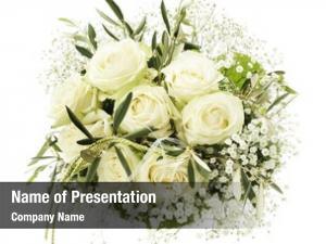 White wedding bouquet roses