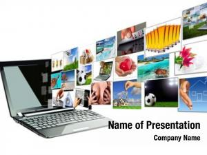 Laptop multimedia streaming screen