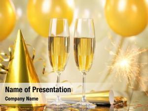 Fireworks,new glasses champagne year celebration