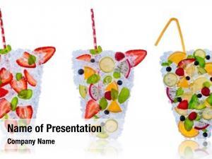 Drinks ice fresh made fruit
