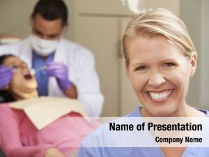 Dental portrait dentist nurse surgery