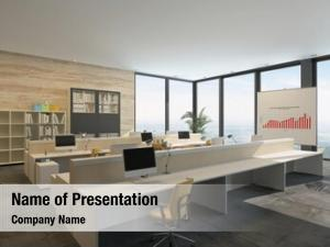 Bright rendering large open plan commercial