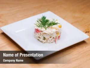 Crab restaurant dish salad white