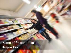 Women tilted blur shopping shopping