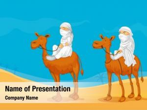 Camel arabians riding