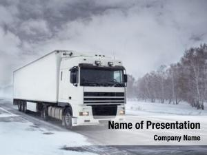 Transportation winter freight truck