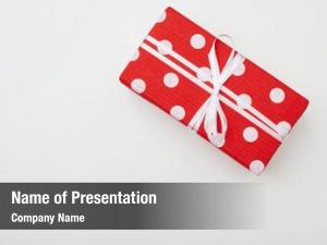 Rectangular high angle dotted gift