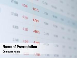 Data stock market information