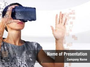 Woman digital composite virtual reality