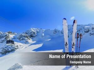 Season ski winter mountains, cable