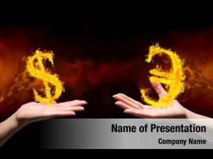 Hand digital composite dolar fire