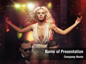 Celebrity beautiful blonde stage