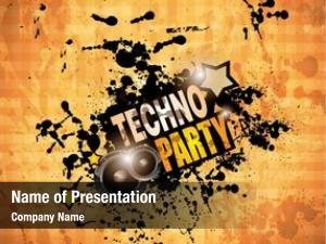 Club grunge disco flyer speaker