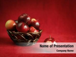 Apple fresh red basket full