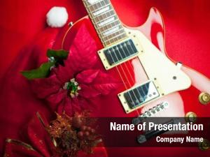 Guitar red electric christmas ornaments