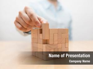 Construction puzzle businessman complete