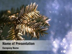 Tree golden christmas close up design