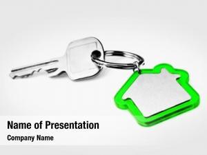 Blank house key green key