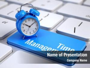 Concept time management computer keyboard