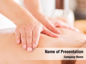 Having attractive woman massage massage