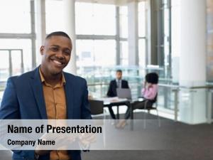 African portrait young american businessman