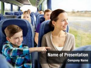 Family, travel, tourism, technology people